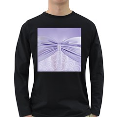 Ribbon Purple Sexy Long Sleeve Dark T Shirts by Mariart