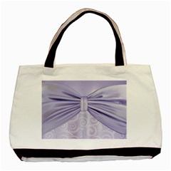 Ribbon Purple Sexy Basic Tote Bag by Mariart