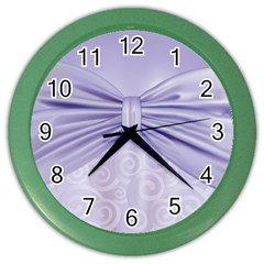 Ribbon Purple Sexy Color Wall Clocks by Mariart