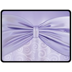 Ribbon Purple Sexy Fleece Blanket (large)  by Mariart