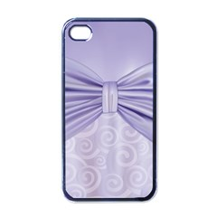 Ribbon Purple Sexy Apple Iphone 4 Case (black) by Mariart