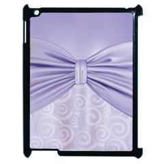 Ribbon Purple Sexy Apple Ipad 2 Case (black) by Mariart
