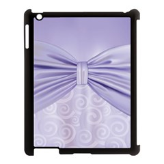 Ribbon Purple Sexy Apple Ipad 3/4 Case (black) by Mariart