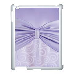 Ribbon Purple Sexy Apple Ipad 3/4 Case (white) by Mariart