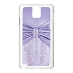 Ribbon Purple Sexy Samsung Galaxy Note 3 N9005 Case (white) by Mariart