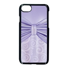 Ribbon Purple Sexy Apple Iphone 7 Seamless Case (black) by Mariart