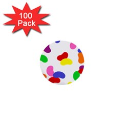 Seed Beans Color Rainbow 1  Mini Buttons (100 Pack)  by Mariart