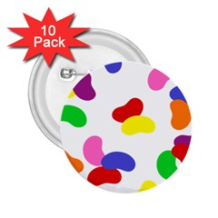 Seed Beans Color Rainbow 2 25  Buttons (10 Pack)