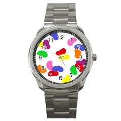 Seed Beans Color Rainbow Sport Metal Watch by Mariart
