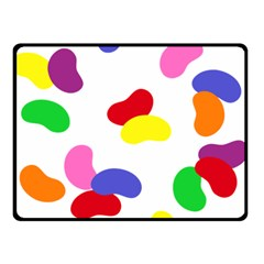 Seed Beans Color Rainbow Double Sided Fleece Blanket (small)  by Mariart