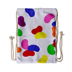 Seed Beans Color Rainbow Drawstring Bag (small) by Mariart