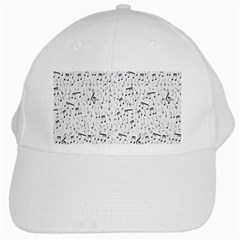 Musical Notes Song White Cap by Mariart