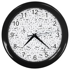 Musical Notes Song Wall Clocks (black) by Mariart