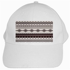 Plaid Circle Polka Dot Star Flower Floral Wave Chevron Triangle White Cap by Mariart