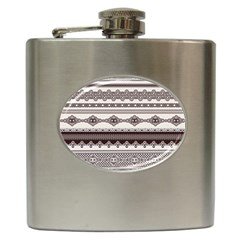 Plaid Circle Polka Dot Star Flower Floral Wave Chevron Triangle Hip Flask (6 Oz) by Mariart