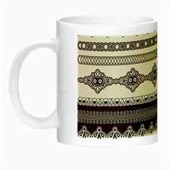 Plaid Circle Polka Dot Star Flower Floral Wave Chevron Triangle Night Luminous Mugs by Mariart