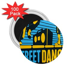 Street Dance R&b Music 2 25  Magnets (100 Pack)  by Mariart