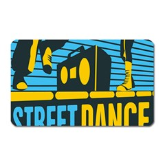Street Dance R&b Music Magnet (rectangular) by Mariart