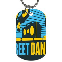 Street Dance R&b Music Dog Tag (one Side) by Mariart