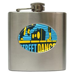 Street Dance R&b Music Hip Flask (6 Oz) by Mariart