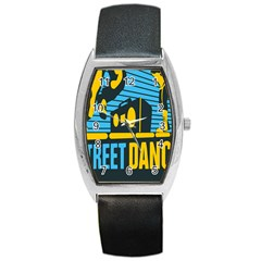 Street Dance R&b Music Barrel Style Metal Watch by Mariart