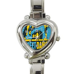 Street Dance R&b Music Heart Italian Charm Watch by Mariart