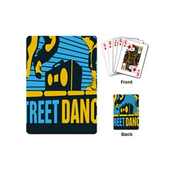 Street Dance R&b Music Playing Cards (mini)  by Mariart