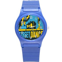 Street Dance R&b Music Round Plastic Sport Watch (s) by Mariart