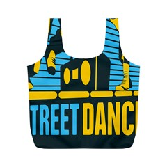 Street Dance R&b Music Full Print Recycle Bags (m)  by Mariart
