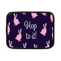Rabbit Bunny Pink Purple Easter Animals Netbook Case (small)