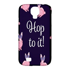 Rabbit Bunny Pink Purple Easter Animals Samsung Galaxy S4 Classic Hardshell Case (pc+silicone) by Mariart