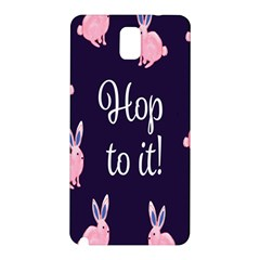 Rabbit Bunny Pink Purple Easter Animals Samsung Galaxy Note 3 N9005 Hardshell Back Case by Mariart