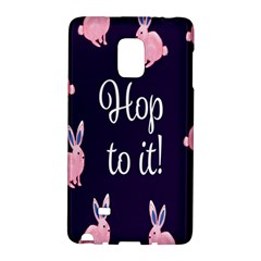 Rabbit Bunny Pink Purple Easter Animals Galaxy Note Edge by Mariart