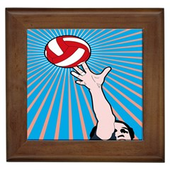 Volly Ball Sport Game Player Framed Tiles by Mariart