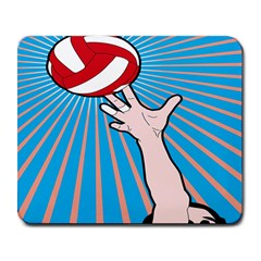 Volly Ball Sport Game Player Large Mousepads by Mariart