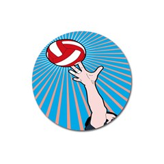 Volly Ball Sport Game Player Magnet 3  (round) by Mariart