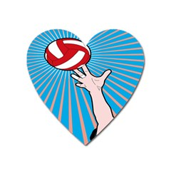 Volly Ball Sport Game Player Heart Magnet by Mariart
