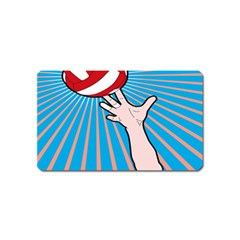 Volly Ball Sport Game Player Magnet (name Card) by Mariart