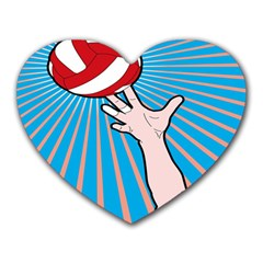 Volly Ball Sport Game Player Heart Mousepads by Mariart