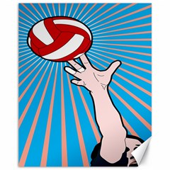 Volly Ball Sport Game Player Canvas 11  X 14   by Mariart