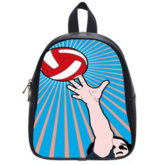 Volly Ball Sport Game Player School Bags (small)  by Mariart