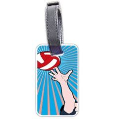 Volly Ball Sport Game Player Luggage Tags (one Side)  by Mariart