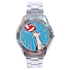 Volly Ball Sport Game Player Stainless Steel Analogue Watch by Mariart