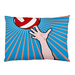 Volly Ball Sport Game Player Pillow Case (two Sides) by Mariart
