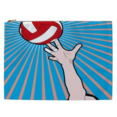Volly Ball Sport Game Player Cosmetic Bag (xxl)  by Mariart