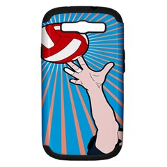 Volly Ball Sport Game Player Samsung Galaxy S Iii Hardshell Case (pc+silicone) by Mariart