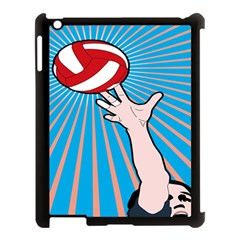 Volly Ball Sport Game Player Apple Ipad 3/4 Case (black) by Mariart