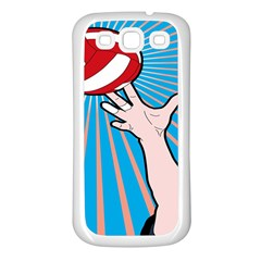 Volly Ball Sport Game Player Samsung Galaxy S3 Back Case (white) by Mariart
