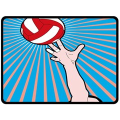 Volly Ball Sport Game Player Double Sided Fleece Blanket (large)  by Mariart