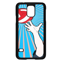 Volly Ball Sport Game Player Samsung Galaxy S5 Case (black) by Mariart